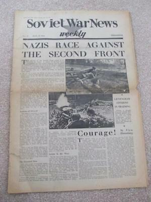 SOVIET WAR NEWS WEEKLY PAPER July 1942 NAZIS RACE AGAINST THE SECON FRONT