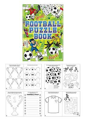6 x Football Puzzle Activity Book Fun Party Bag Toy Favour