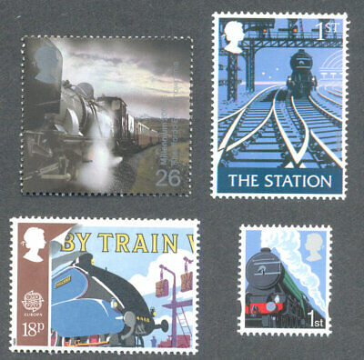 Railways-Trains Great Britain 4 different mnh collection