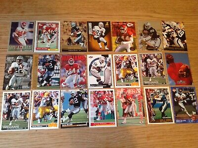 Lot Of Harvey Williams USA NFL American Football TRADING CARDS