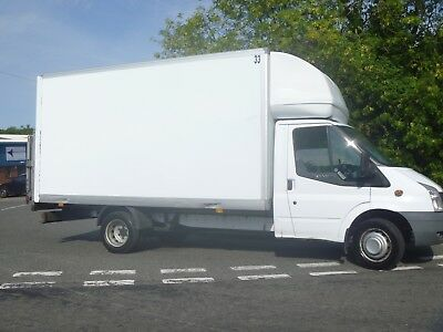 09 Ford Transit 350/140 Luton With Taillift 2.4 Tdci 6 Speed 14Ft Box Twin Wheel