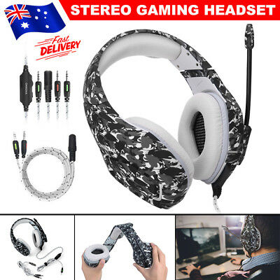 ONIKUMA K1 Mic Stereo Surround Gaming Headset for Laptop Xbox One PS4 Grey JD