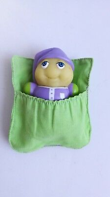 Glo Friends with green sleeping bag vintage toy Glow Worm Hasbro 1985