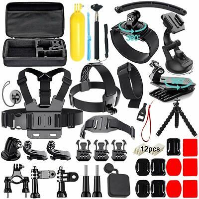50 in 1 GoPro Accessories Bundle Kit for GoPro Hero 5 4 3+/3/2/1 Action Camera