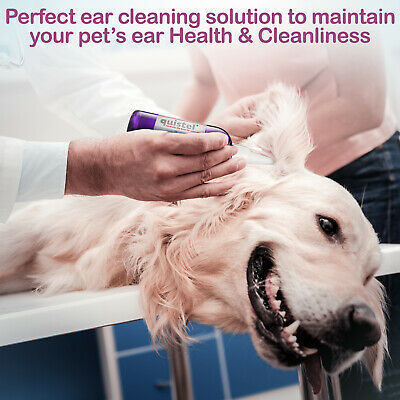 Quistel's Soothing DOG Ear Cleaner 500ml and 50ml EMPTY BOTTLE FOR DISPENSING