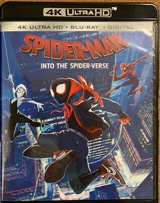Marvel Spider Man Into The Spider Verse 4K Ultra Hd Blu Ray 2 Disc Set Free Ship