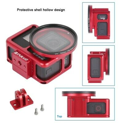 PULUZ Housing Shell Aluminum Protective Cage w Insurance Frame for GoPro HERO7