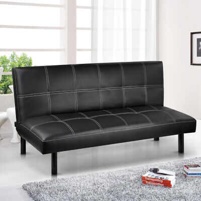 Modern PU Leather 3 Seater Sofa Bed - Foldway Sofabed Living Room Furniture Used