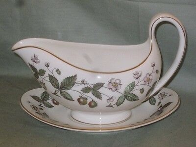 Wedgwood Strawberry Hill Gravy Boat & Stand