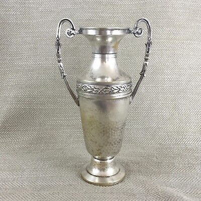 Antique French Silver Plated Twin Handled Trophy Vase