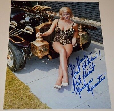 PAT PRIEST / THE MUNSTERS TV /   8 x 10  COLOR  AUTOGRAPHED  PIN-UP  PHOTO
