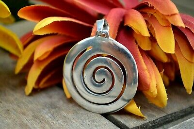 Greek Jewelry Ilias Lalaounis Sterling Silver Pendant Spiral Coil Labyrinth