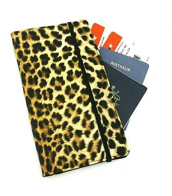 Leopard Print Travel Wallet, Passport Wallet, Travel Organiser, Family Wallet