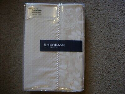 Frette Roma Pair Of Housewife Pillowcases 280 Tc Ivory Bnip Bed Linens & Sets
