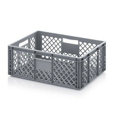 Plastic Box 60x40x22 Perforated Storage Box Stacking Crates Chest Euro