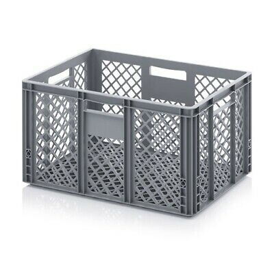 Plastic Box 60x40x32 Perforated Storage Box Stacking Crates Chest Euro