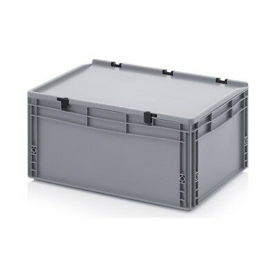 Transport Containers 60x40x28, 5 with Lid Plastic Transport Case Box 600x400x285