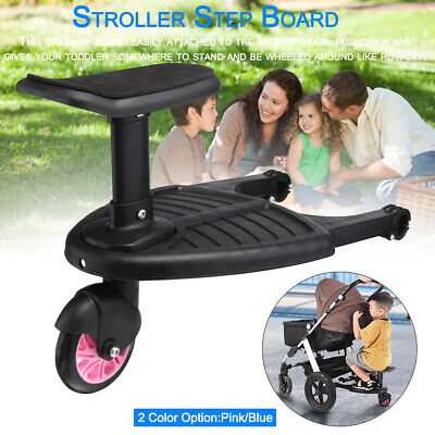 Board Stroller Step Board Stand Connector Toddler/Kids Pink/Blue Up To