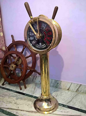Ship's Telegraph Brass Engine Order Antique Maritime Collectible Decorative