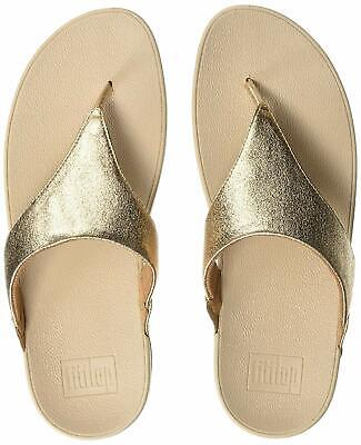 dcf554af9f6e FITFLOP WOMEN S Lulu Glitzy Leather Wedge Thong Sandal Silver Size 9 ...