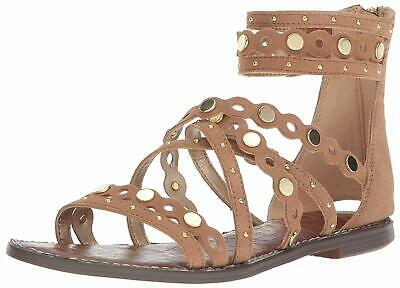 290938a84 NEW SAM EDELMAN Geren Modena Black Leather Suede Caged Sandal Womens ...