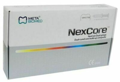 META BIOMED DENTAL NexCore Dual cured core build up composite 2 x 9GM Syringe It