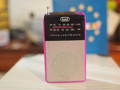 RA 725 TREVI MINI RADIO AM/FM pink