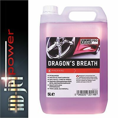 Valetpro Dragons Breath Wheel Cleaner 5 Litre Iron X Contaminant Fallout Remover