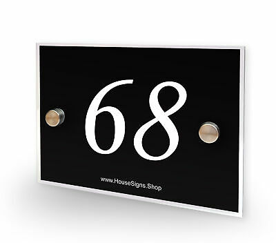 Home Number 68 House Sign Plaque Address Contemporary Style No 68