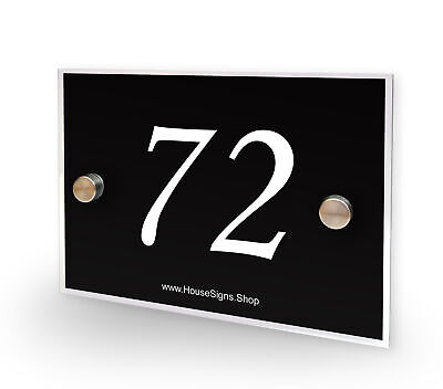 Home Number 72 House Sign Plaque Address Contemporary Style No 72