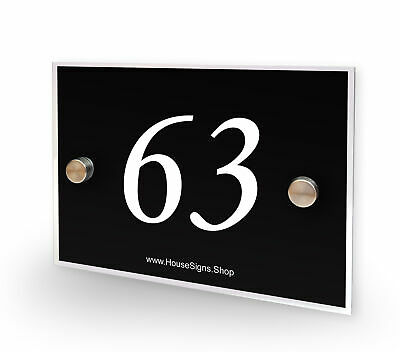 Home Number 63 House Sign Plaque Address Contemporary Style No 63