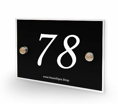 Home Number 78 House Sign Plaque Address Contemporary Style No 78