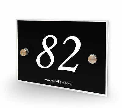 Home Number 82 House Sign Plaque Address Contemporary Style No 82