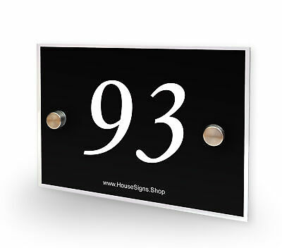 Home Number 93 House Sign Plaque Address Contemporary Style No 93