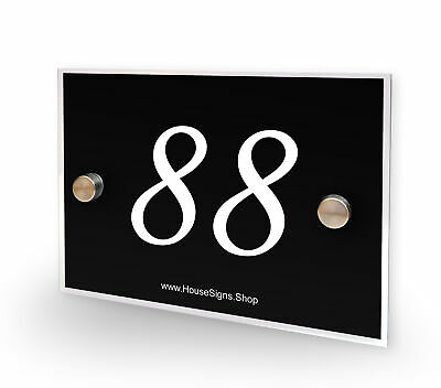 Home Number 88 House Sign Plaque Address Contemporary Style No 88
