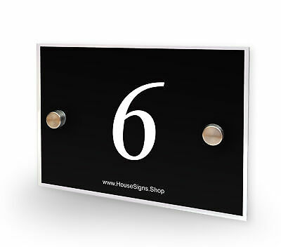 Home Number 6 House Sign Plaque Address Contemporary Style No 6