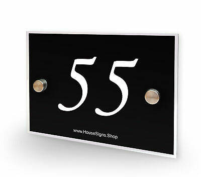 Home Number 55 House Sign Plaque Address Contemporary Style No 55