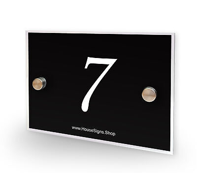 Home Number 7 House Sign Plaque Address Contemporary Style No 7