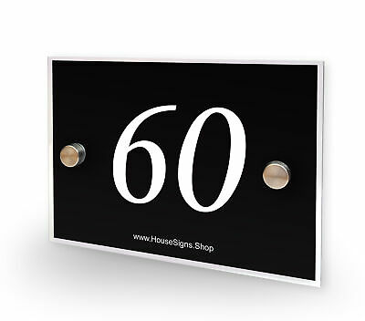 Home Number 60 House Sign Plaque Address Contemporary Style No 60