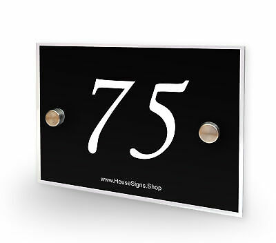 Home Number 75 House Sign Plaque Address Contemporary Style No 75