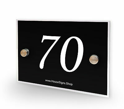 Home Number 70 House Sign Plaque Address Contemporary Style No 70