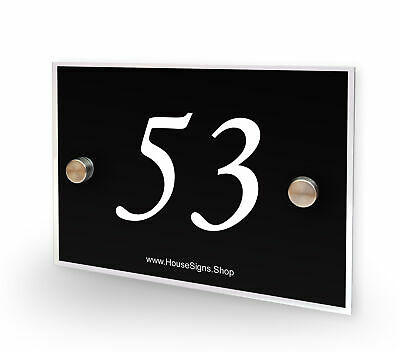 Home Number 53 House Sign Plaque Address Contemporary Style No 53