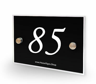 Home Number 85 House Sign Plaque Address Contemporary Style No 85