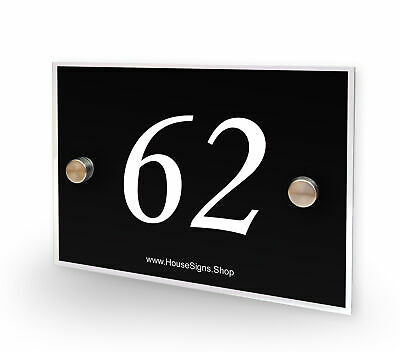 Home Number 62 House Sign Plaque Address Contemporary Style No 62