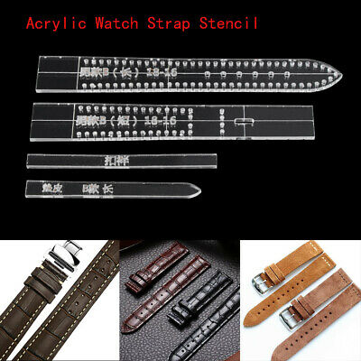 Women Men Acrylic Template DIY Watch Strap Mold Band Stencil Craft Tool Leather