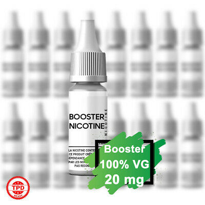 Pack Booster Nicotine 20 mg 10 ml 100% VG DIY Lot de Bouteilles E-Liquides