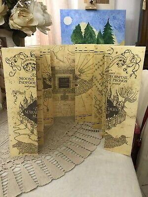 Harry Potter Mappa Del Malandrino Big Size 1:1 Marauder's Map Replica Fandom #1