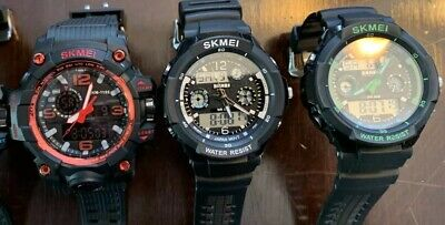 3 Skmei Mens Heavy Duty Military Watches. Price Is For Individual Watches.