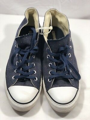 6737ea2767b Converse Mid Chuck Taylor All Star Blue Denim Size 11 136621F EUC