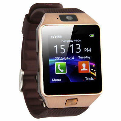 DZ09 Bluetooth Smart Watch Phone Camera SIM Card Android iOS Phones iPhone Gold